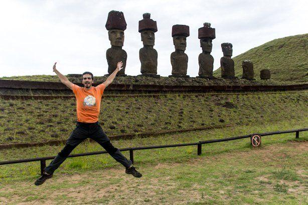 Un salto en la Isla de Pascua